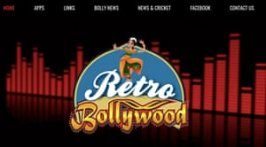 Retro Bollywood radio station logo