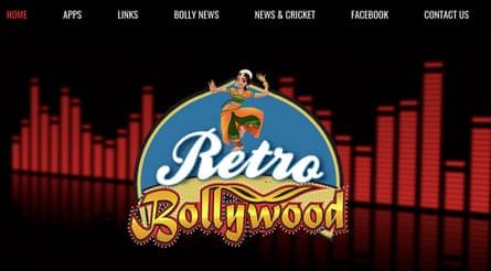 Retro Bollywood radio station logo