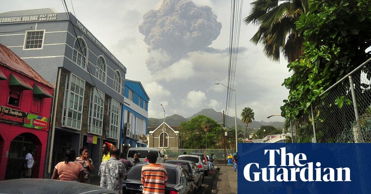 St Vincent volcano: heavy ashfall clouds evacuation efforts on Caribbean island