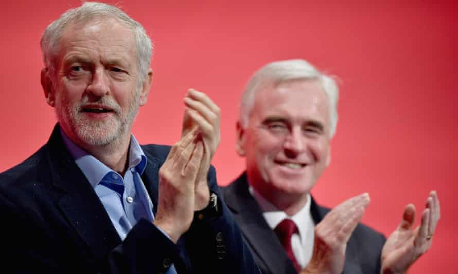 Labour leader Jeremy Corbyn, left, and shadow chancellor John McDonnell.