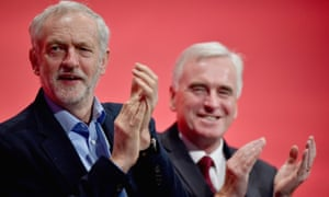 abour leader Jeremy Corbyn and Shadow chancellor John McDonnell sit on stage during the morning session at the Labour Party autumn conference