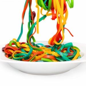 Multicoloured noodles