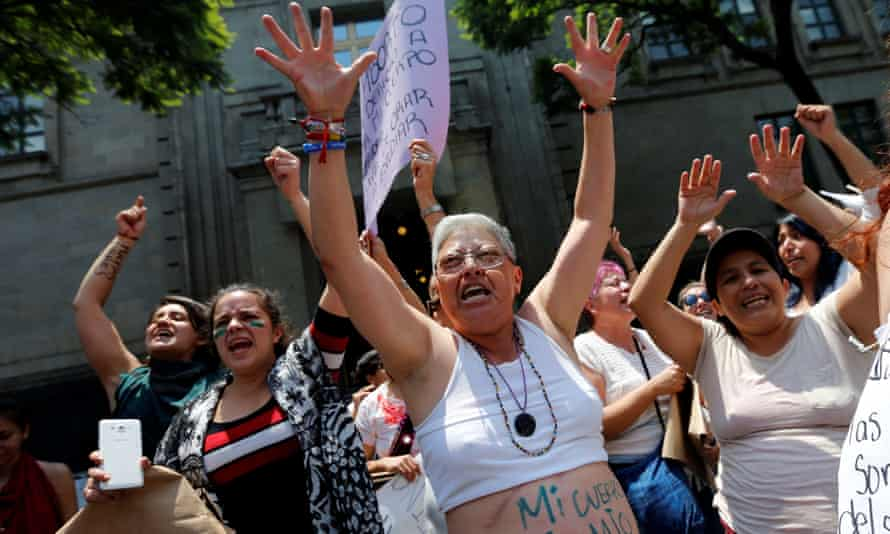 Abortion rights activists protest in Mexico City, where abortion is decriminalised. However abortion is illegal in much of the country.