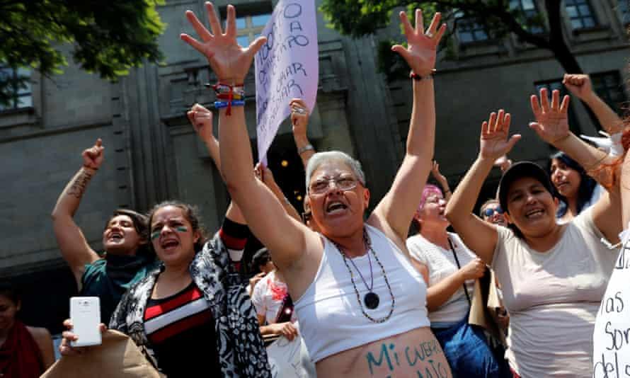 Pro-choice activists in Mexico City