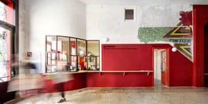 inside Flores & Prats's Sala Beckett in Barcelona.