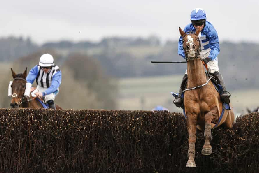 James Bowen and Raz De Maree clear the last on their way to victory in the Welsh Grand National.