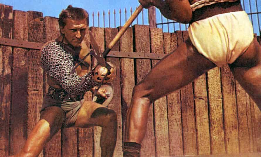 Kirk Douglas and Woody Strode in Spartacus.