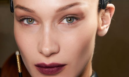 Make a statement: choose a berry lip colour, as seen at Fendi A/W 2020, and keep eyes simple.