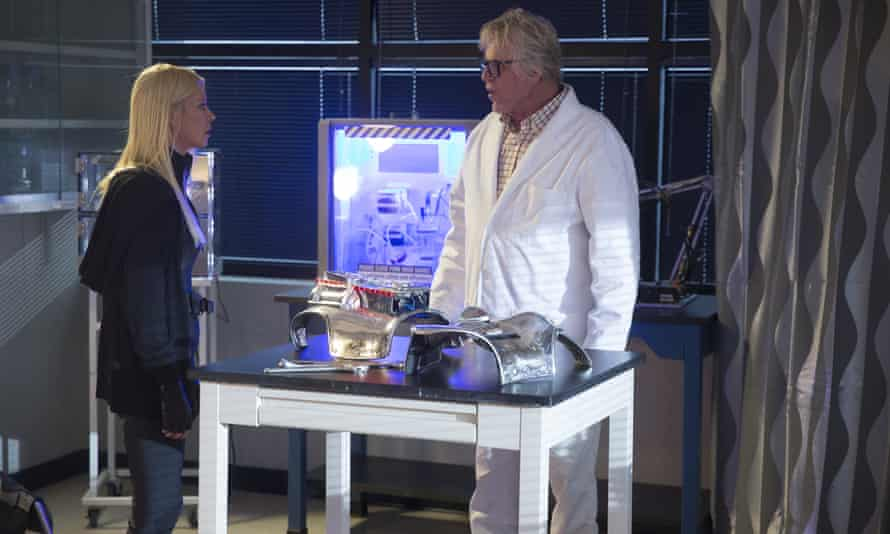 Tara Reid as April Shepard and Gary Busey as Wilford Wexler: are they feuding?