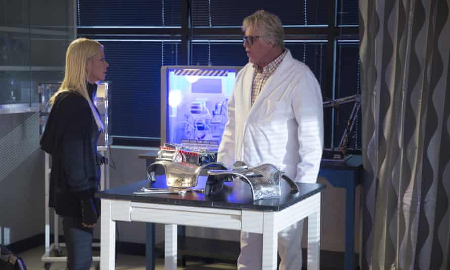 Tara Reid as April Shepard and Gary Busey as Wilford Wexler in Sharknado: a new summer tradition