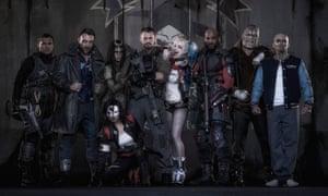Superhero romp … third left, as Enchantress in Suicide Squad.