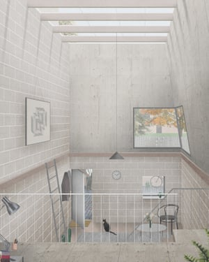 Naked House's interior is a blank canvas for residents