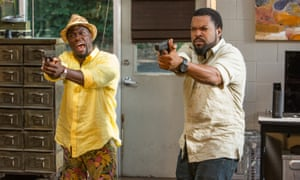 Kevin Hart, left, as Ben Barber and Ice Cube as James Payton in Ride Along 2.