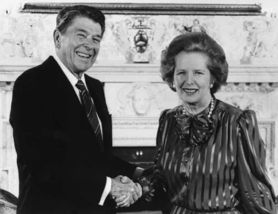 Ronald Reagan and Margaret Thatcher in 1984.