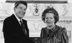 """Reagan and Thatcher unleashed an """"almost religious faith in market forces and a broad assault on trade unions, teachers included"""" that is still being felt today"""