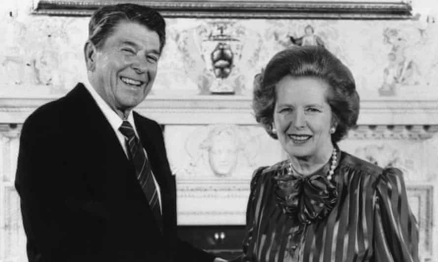 Ronald Reagan and Margaret Thatcher, pictured in 1984, ushered in the era of neoliberalism.