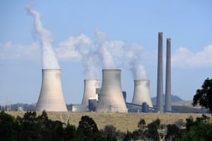 View of the Bayswater power station, near Muswellbrook in the Hunter region of NSW