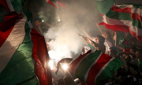 Lokomotiv Moscow fans during the 2017 Russian Super Cup.
