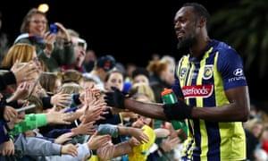 Usain Bolt thanks fans on the Central Coast