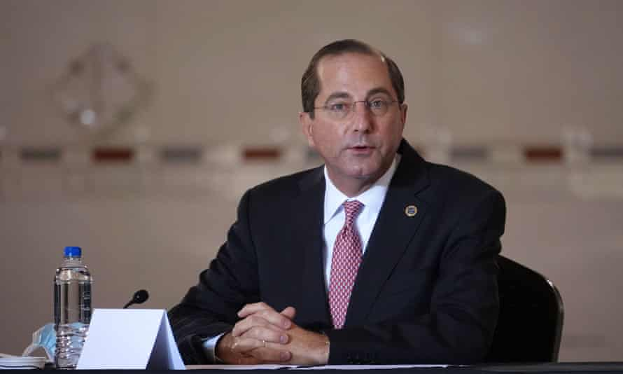 The health secretary, Alex Azar, said: 'I'm going to do anything I need to do to make sure no balls are dropped in terms of protecting the American people.'