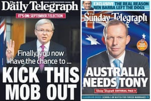 News Corp Australia media coverage in Sydney during the 2013 federal election campaign.