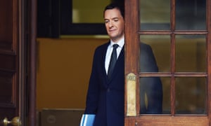 Britain's Chancellor of the Exchequer George Osborne leaves the Treasury in London on November 25, 2015 bound for parliament