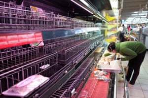 Food shelves have been emptied in Ho Chi Minh City's shops since the lockdown was announced