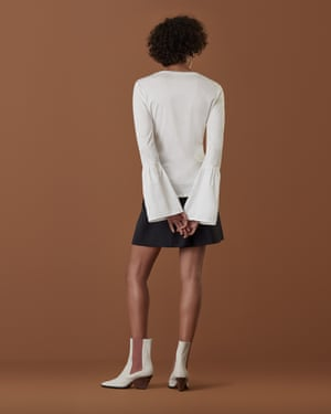 The Florence flute sleeve top from Finery, £39.