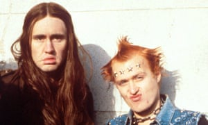 Nigel Planer, left, and Adrian Edmondson in The Young Ones.