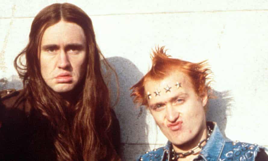Nigel Planer, left, and Adrian Edmondson in The Young Ones.