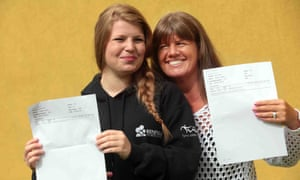 Sharon, right, and Abigail Sellers of Newcastle are a mother and daughter who both received maths GCSEs.