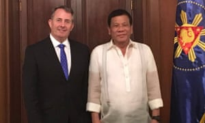 Liam Fox visits the Phillipines and meets President Rodrigo Duterte