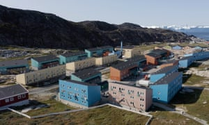 Social housing blocks in Ilulissat, built in the 1970s