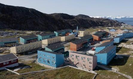 Social housing blocks in Ilulissat, built in the 1970s