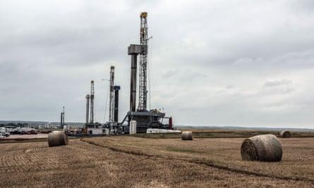 Fracking in Oklahoma.