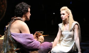 An actor of precision and depth: Christian Camargo and Gia Crovatin in Pericles.
