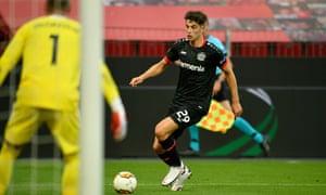 Kai Havertz in action for Bayer Leverkusen against Rangers this month.
