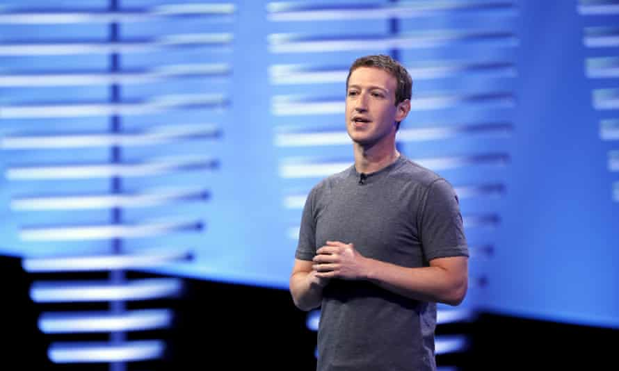 Facebook's CEO, Mark Zuckerberg, speaks on stage during the Facebook F8 conference in San Francisco, California, on Tuesday.