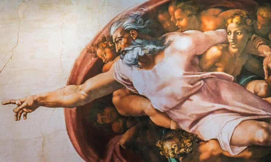 detail from michelangelo's sistine chapel