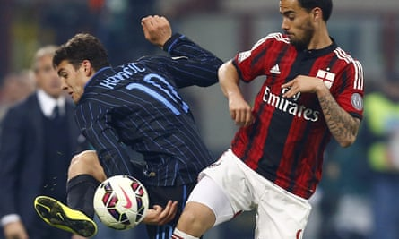 Mateo Kovacic, who is in line to join Real Madrid from Internazionale, took 20 months to score his first Serie A goal