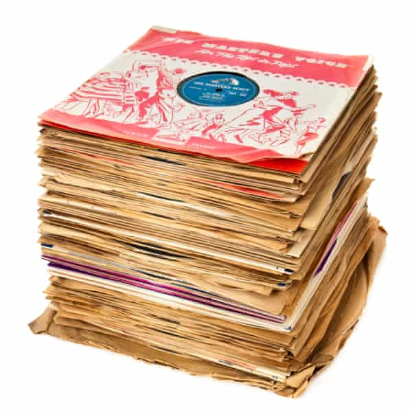pile of records