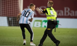 The pitch invader, a French Mallorca resident, said he had planned his action 'ever since I knew the match was happening'.
