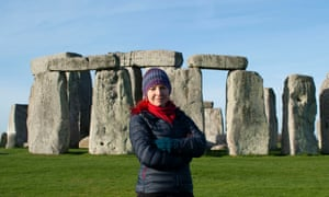 Prof Alice Roberts in front of Stonehenge for a BBC Two documentary: The Lost Circle Revealed.