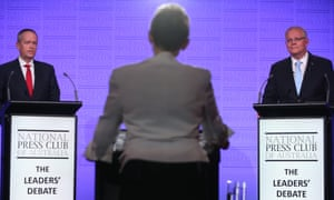 Bill Shorten and Scott Morrison during an election debate. The political parties' campaign financing will not be disclosed until February 2020