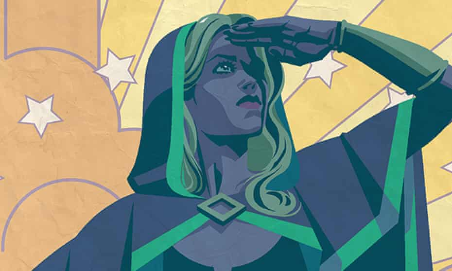 detail from the cover of Alters, showing transgender superhero Chalice.