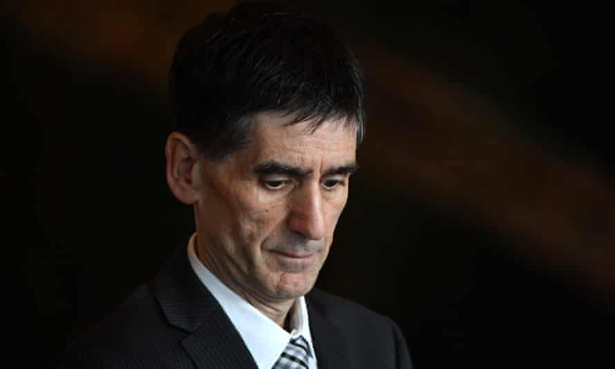 Australian Medical Association president Tony Bartone at parliament house in Canberra.