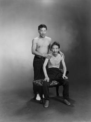 Masahisa and Sukezo, 1985, by Masahisa Fukase. From  the series Family, 1971-90.