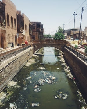 Basra's historic canals are now swamps of rubbish.