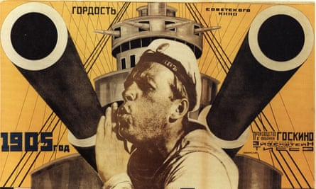 A poster for Eisenstein's 1925 silent masterpiece, The Battleship Potemkin.