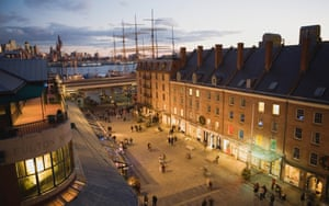 South Street Seaport in New York, where proposals to develop the neighbourhood would significantly alter its character.